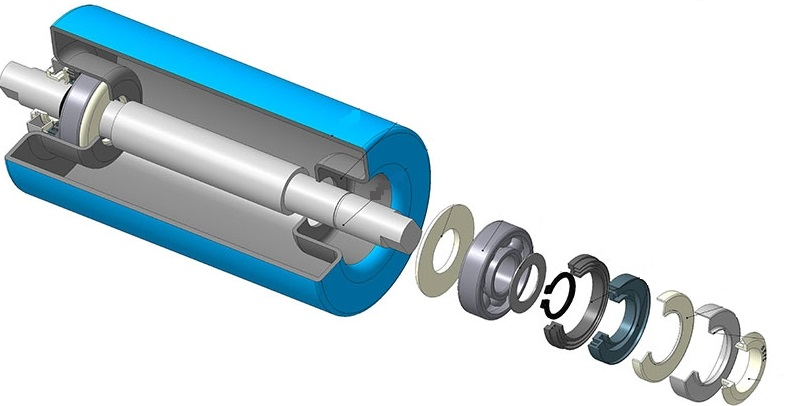 Ролики для рольганга неприводного размер резины транспортер т5