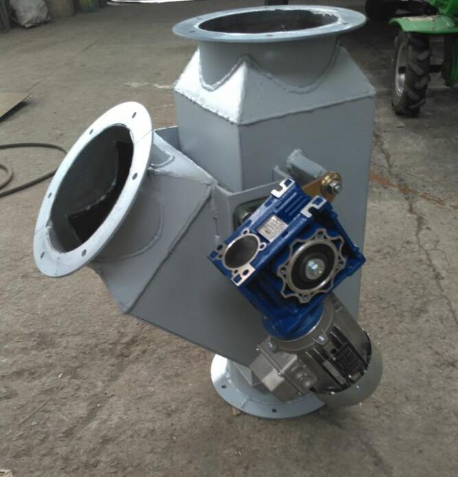 клапан перекидной с электроприводом для зерна